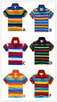 Brand New Kids Boys Short  Sleeve Polo T-Shirt  Size 2 -14 Years (6 x Designs)