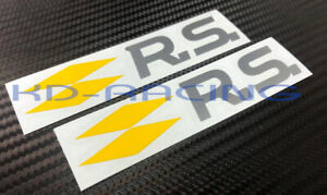 Renault RS Stickers Decals Megane R.S. 4 280 Clio 220 Cup Trophy R x 2 pcs.