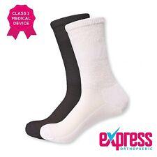 Diabetic Seamless Bamboo Socks, Soft Top, Padded Sole, Unisex, Black/White PAIR
