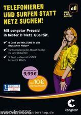 Telekom, Congstar Prepaid Karte ohne Grundgebühr wie Xtra mit 10 Euro Guthqaben