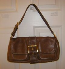 MICHAEL KORS BRITISH TAN PEBBLED LEATHER POCKET PURSE/HOBO