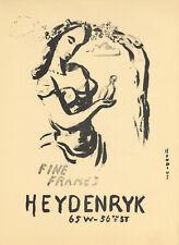 Gerrit Hondius original lithograph