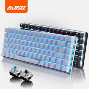 UK Ajazz AK33 Anti-Ghosting Backlit Gaming Mechanical Keyboard 82 Keys PC Keypad