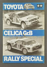 Tamiya Toyota Celica Gr. B Rally Original Manual Instruction Book 959 Porsche