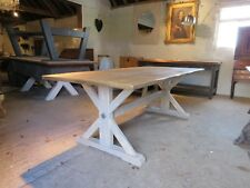 Rustic Reclaimed Wood Dining Table. 244cm x 100cm. Hand made in our workshop.