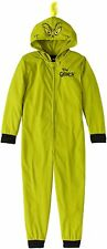 Dr. Seuss Unisex Kids The Grinch Stole Christmas One Piece Hooded Pajamas