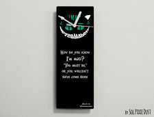 Cheshire Cat - How do you know I'm mad? You must be ...- Wall Clock