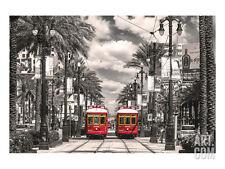 New Orleans Streetcars Art Poster Print, 24x18