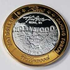 New Listing2001 G Reno Hilton Hotel Casino .999 Silver Strike $10 Hollywood Token ~Rh0144