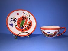 RARE! Wassily Kandinsky's Modern Porcelain Teacup And Saucer Russian Artist