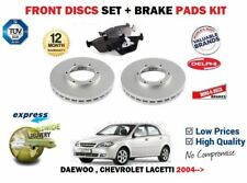 FOR CHEVROLET DAEWOO LACETTI 1.4 1.6 1.8 2004> FRONT BRAKE DISCS SET + DISC PADS