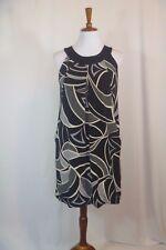 AB Studio Womens Sleeveless Black Grey Dress Size M 8/10 Gorgeous Career Dress