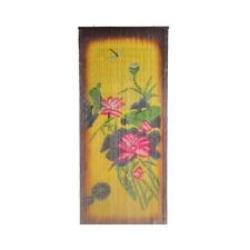 Bamboo Curtain Divider Bead Wall Hanging Room Patio Door Panel Art Drape Floral