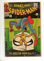 Amazing Spider-Man #35 VG 4.0 2ND APP The MOLTEN MAN! 1966 Ditko Art!