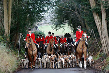 Incorniciato stampa-British la caccia alla volpe Troop (PICTURE POSTER BEAGLES CANI CACCIA ART)