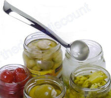 New Stainless Steel Olive, Cherry, Onion, Caper Slotted Spoon. High Quality.