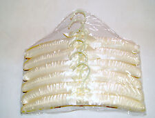 "15.5"" Satin Padded Hanger Ivory Lot of 12 pkgs of 6 Nib *wolfsmarine*16004"