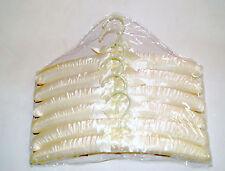 "15.5"" Satin Padded Hanger Ivory Lot of 12 pkgs of 6 Nib *wolfsmarine*16004"