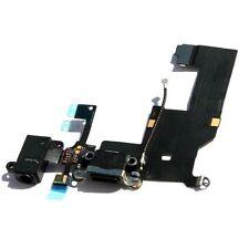Black Headphone Audio Dock Connector Charging Data USB Port Flex Cable iPhone 5