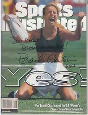 Brandi Chastain Signed July 1999 Sports Illustrated Us Soccer Personailzed Auto