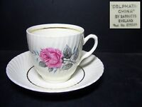 BEAUTIFUL BARRATTS CUP & SAUCER - PATTERN BTT18 - DELPHATIC -