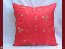 "New Red Cushion Cover Pillow Case Floral Pattern Home Decor 17"" x 17"""