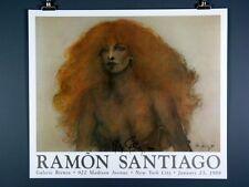 "Ramon Santiago ""Lady Di"" Hand Signed Art Print Poster"