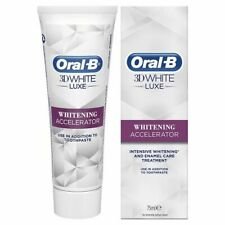 ORAL-B 3D WHITE LUXE WHITENING ACCELERATOR 75ML BRAND NEW & BOXED