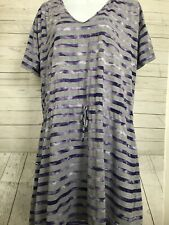 Speedo Womens Sz XL Tie Dye Stripe Hooded Coverup