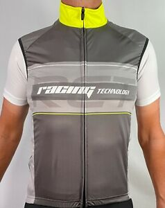 GSG Packable Cycling Wind Vest in Flouro Yellow/Grey - Size M