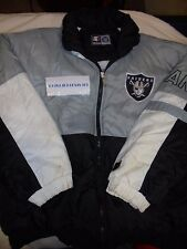 Oakland Raiders STARTER AUTHENTIC NYLON HOOD Jacket XL Adult