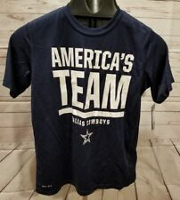 DALLAS COWBOYS NIKE YOUTH LARGE SHIRT DRI-FIT BOYS KIDS AMERICAS TEAM POLYESTER