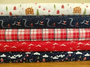 Ski Resort Christmas Fabric collection - per half metre