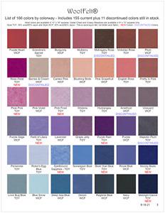 #3 Wool Felt® - 42 Colors - Wool/Rayon Felt - WoolFelt® from National Nonwovens