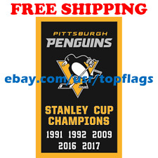 Pittsburgh Penguins Stanley Cup Champions Flag Banner 3x5 ft 2019 NHL Hockey NEW