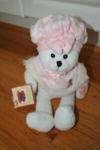 HTF Musical Chantilly Lane Bear Sing I Hope You Dance Breast Cancer Pink Ribbon