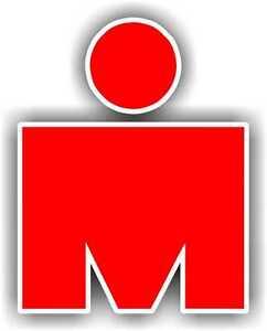 "2"" Iron MAN Red Phone Decal Sticker Car Window Running Jogging Marathon woman"
