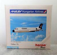Herpa 509275 1:500 Fokker 70 Malev Hungarian Airlines gebraucht mit OVP