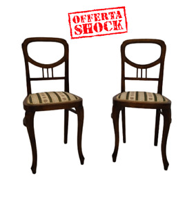 Coppia di sedie  Liberty -seggioline - epoca primi 900