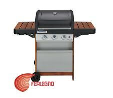 BARBECUE BBQ IN LEGNO A GAS 3FUOCHI 128X59X88,4CM MOD.3 SERIES WOODY L CAMPINGAZ
