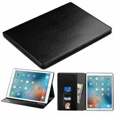 "For Apple iPad Pro(12.9"") Black Leather Fabric Case Cover w/stand w/card slot"