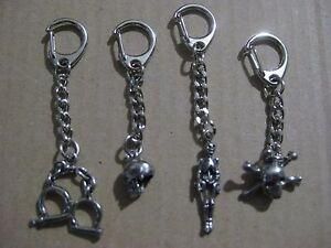 Skeleton, Skull, Hand Cuffs, Skull & Crossbones  - Quality Silver Pewter Keyring