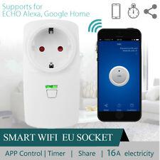 Wifi Smart 16A EU Plug Power Socket Outlet Timer APP For ECHO ALEXA GOOGLE HOME