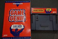 Game Genie Video Game Enhancer for Super Nintendo (SNES). Genie and Handbook.