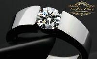 Damen  Herren ring Verlobungsring Ring 925 Sterling Silber Unisex Swarovski