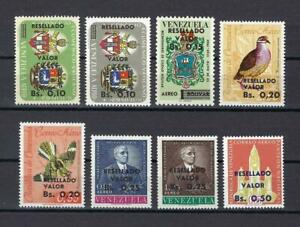 Venezuela 1960-64 Airmail with new value Resellado Valor MNH