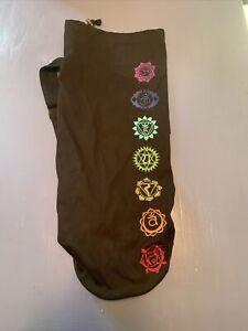 GAIAM Yoga Mat Bag Shoulder Strap Activewear Embroidered With Zipper Pocket