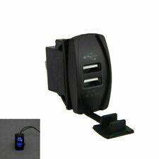 Universal Coche Auto Barco de dos puertos USB Cargador zócalo adaptador de plástico ABS 12V-24V
