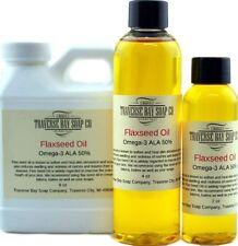 Flaxseed Oil, Organic 100% pure, Soap making supplies, massage oils, bath, body.