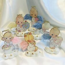 2001 Precious Moments Heavenly Blessings Set of 6 Bradford Editions Christmas